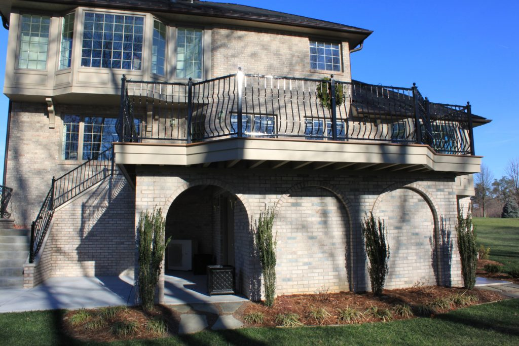Deck Railing Built For House In Louisville Ky