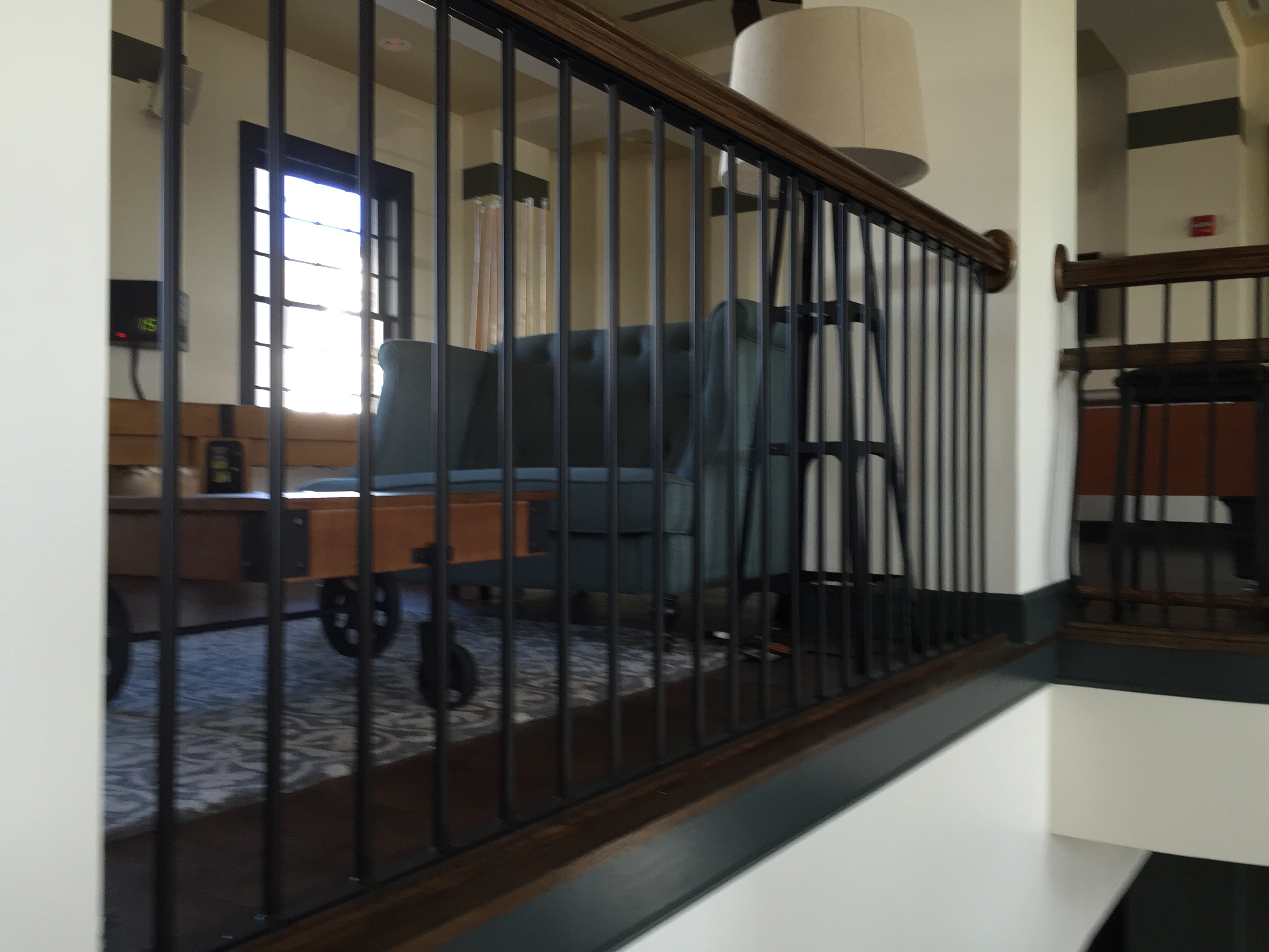 Interior Balcony Railings Our Louisville Iron Company Only Creates The  Highest Quality Interior Railing Products. From Simple Iron Railings In  Your Business ...