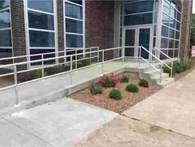 handicap handrails for the entrance of a building in louisville ky
