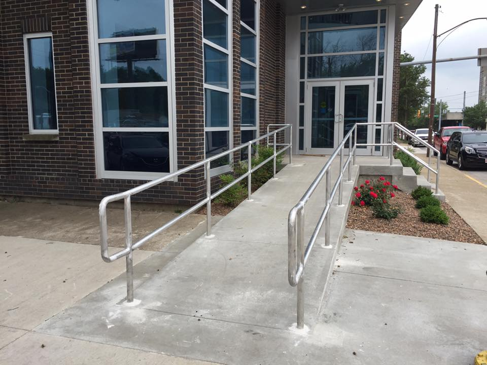 Polished Aluminum Handrails In Louisville Ky Built By Heck